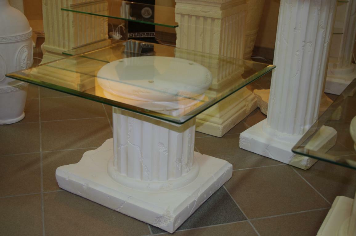 Glas Tisch Beistelltisch Telefontisch Couchtisch Blaumenständer Blaumensäule Antik