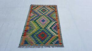 4-039-x2-039-5-Small-Flat-Weave-Tribal-Kilim-Rug-Afghan-Kelim-Wool-Area-Rug-Carpet-7349