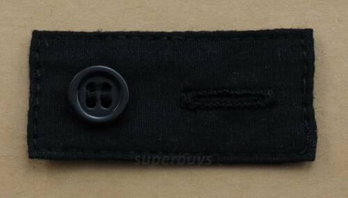 Black Cotton Collar Extender Business Shirt Blouse Cuff Extension Neck Size Tie