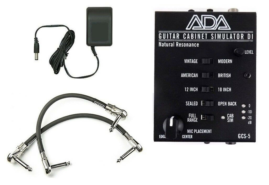 ADA GCS-5 Guitar Cabinet Simulator   DI & Adapter Power Supply ( 2 MXR PATCH )