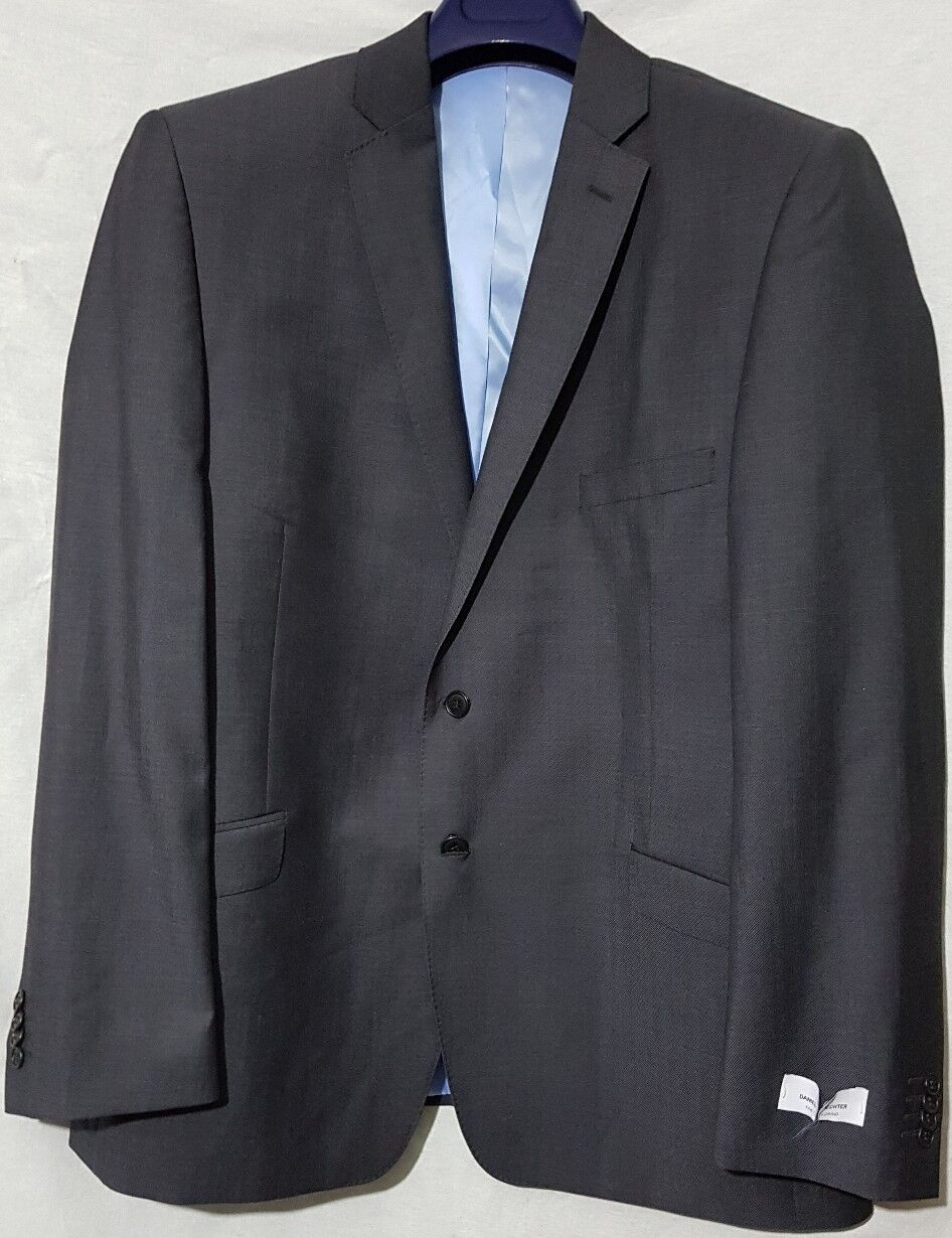 BNWT in DANIEL HECHTER contrasto TWLL Giacca in BNWT Carbone - 44L-RRP c85699