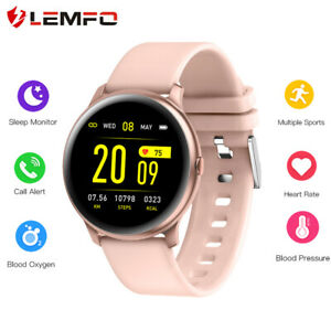 Lemfo-KW19-Reloj-inteligente-Presion-sanguinea-Ritmo-cardiaco-Para-Android-IOS