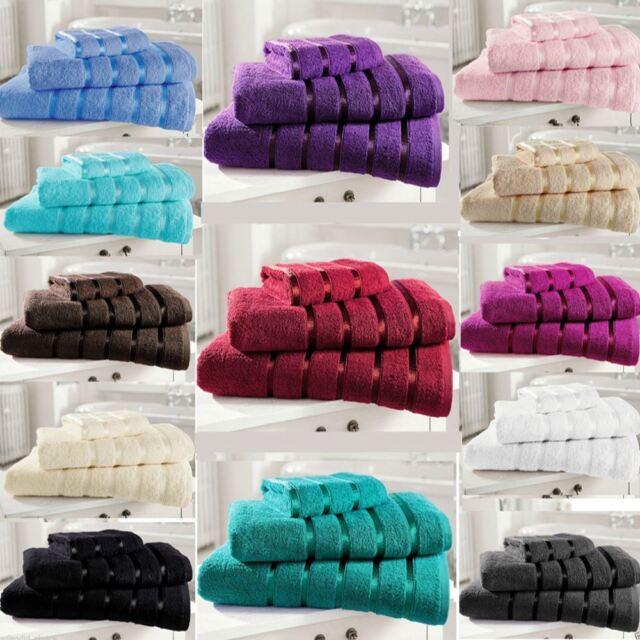 New 100% Egyptian Cotton Luxury Towels - Bath Towel, Hand Towel & Bath Sheet