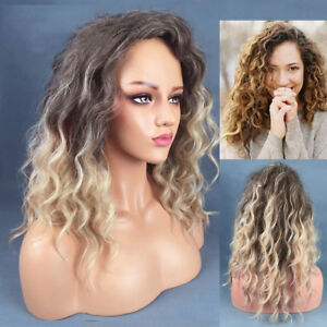 Blonde Short Curly Wig Wave Full Lace Wig