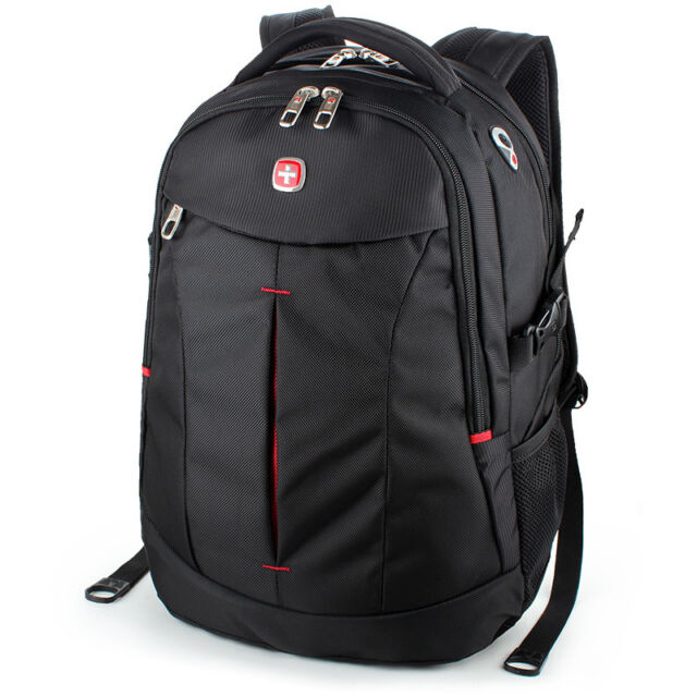 "Swiss Gear Men s 15.6"" Business Travel Laptop Backpack School Shoulders Bag 8c657a4e17ff3"