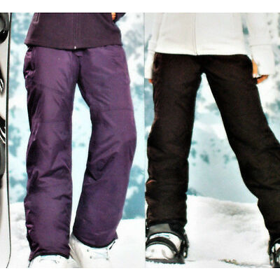 Damen SKIHOSE Snowboardhose Schneehose Gr.36 38 40 42 44 lila/dunkelbraun NEU