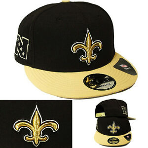 official photos 6d1bd cf129 Image is loading New-Era-NFL-New-Orleans-Saints-Snapback-Hat-