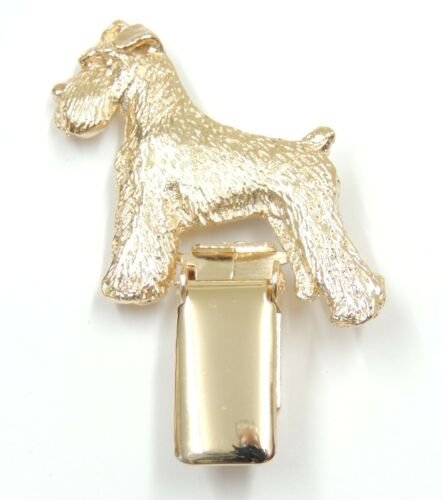Dog Show Ring Clip//Number Holder with tail Miniature Schnauzer