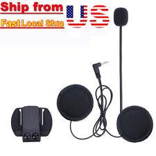 Mic/Speaker Headset&Clips for Motorcycle Motorbike Helmet Interphone Intercom V6