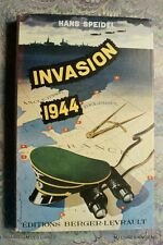 (1761HS.9) LIVRE GUERRE INVASION 1944 HANS SPEIDEL BERGER LEVRAULT 1950 TBE