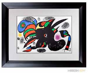 Joan-MIRO-Lithograph-LIMITED-Edition-ORIGINAL-Archival-FRAME-Modern-NOW