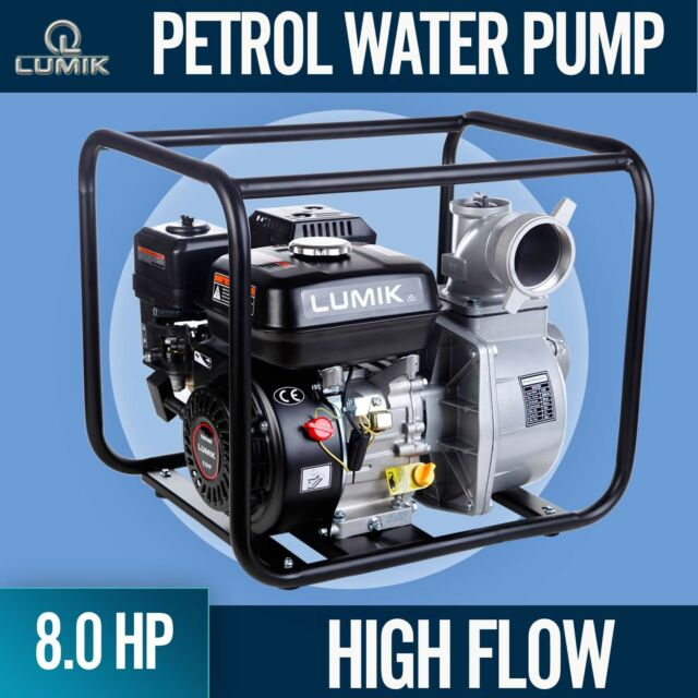 NEW 8HP Petrol Water Pump Transfer  High Flow Irrigation Fire Fighting 45000L/H