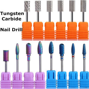 Image Is Loading Silver Rainbow Tungsten Carbide Burr Nail Drill Bit