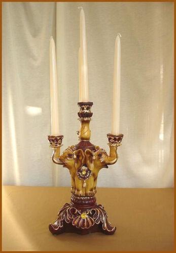 ELEFANT Kerzenhalter 4-fach Orient Stil 64 Holzoptik