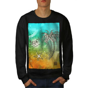 New Black Beach Men Sweatshirt Tree Holiday Palm 1xwnqz0RX