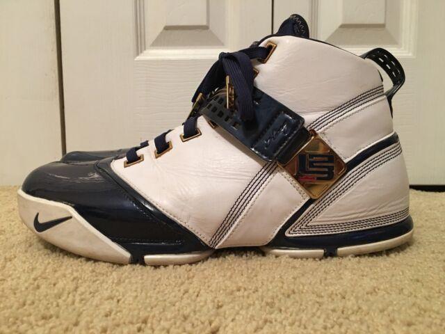0f55b97a1bab Lebron James V L23 Nike Air Zoom Blue White Shoes SNEAKERS Mens Sz 12  Basketball