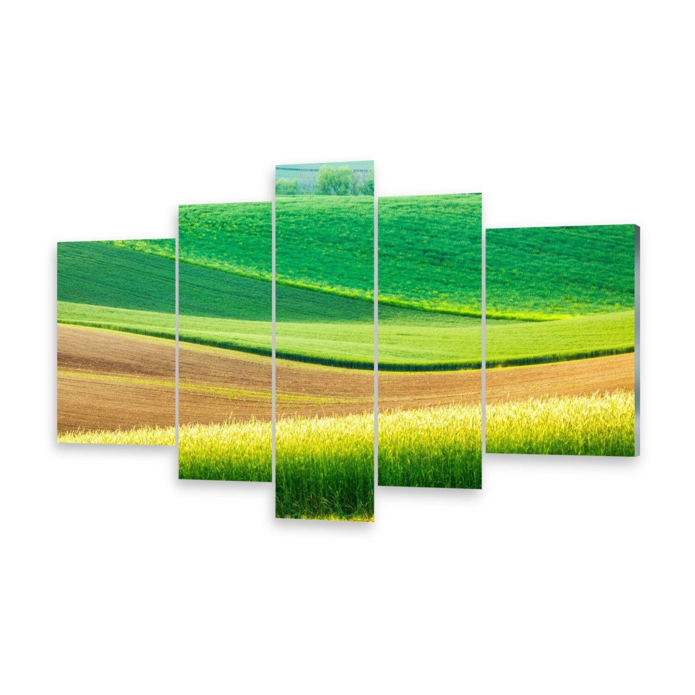 Mehrteilige Bilder Glasbilder Wandbild Ländliche Landschaft