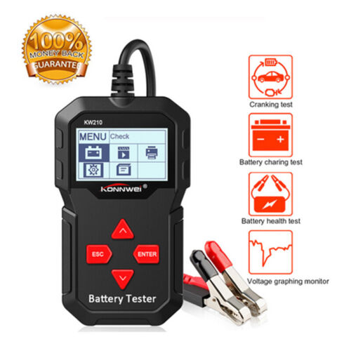 KONNWEI KW210 Automatic 12V Car Battery Tester Analyzer 100 To 2000CCA Cranking