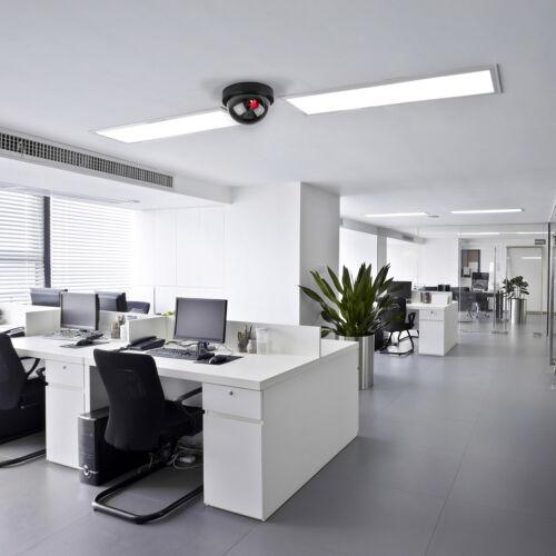 Set of 2,4 Fake Dummy Dome Surveillance Security Camera with LED Sensor Light