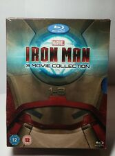 Iron Man 3 Movie Collection(Blu-ray Disc,2013)All 3 Iron Man Movies-NEW-Free S&H