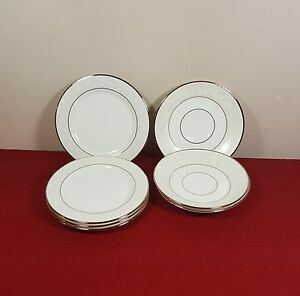4 BREAD & BUTTER PLATES +3 SAUCERS W TAGS LENOX OPAL INNOCENCE (OTR PCS AVAIL)