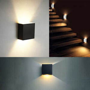 Details About 6w Modern Cob Led Wall Light Up Down Cube Indoor Outdoor Lighting Lamp