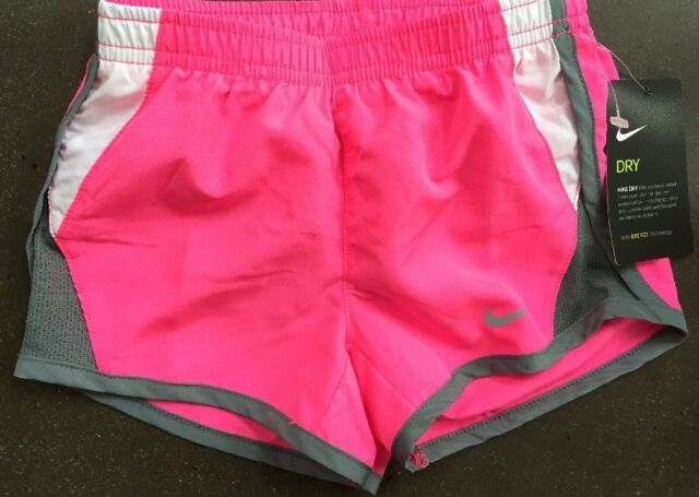 uk availability 696d5 79bb2 Girls 4T Nike Athletic Shorts NWT NEW  25 Dri-Fit Pink Pow White Gray
