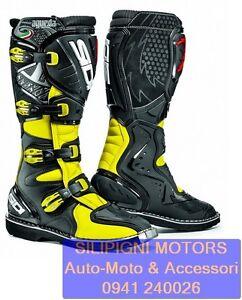 SIDI-AGUEDA-GIALLO-FLUO-NERO-Stivali-OFF-ROAD-Cross-Enduro-Fluo-Yellow-Black