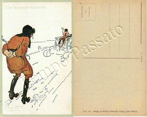 Furto di motocicletta a uomo in panne / illustratore Codognato