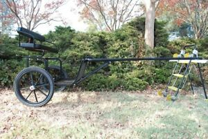 """EZ Entry Horse Cart - Cob & Full Size w/Steel """"C"""" Springs w/18"""" Motorcycle Tires"""