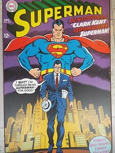 NICE-LARGE-CANVAS-SUPERMAN-POSTER-5-039-X-6-039