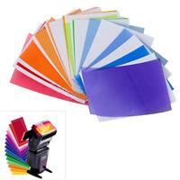 12x Strobist Flash Color Card Diffuser Lighting Gel Pop Up Filter for Camera BD