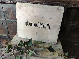 Antique Plate Lithographiestein Fire Brigade Template Shield Pflichtfeuerwehr