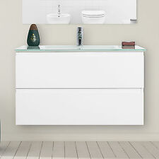 Arredo bagno sospeso mobile moderno bianco lavabo cm 90 offerta nuova collezione