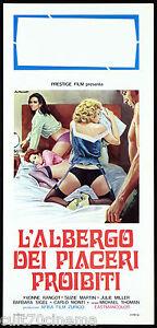L-039-ALBERGO-DEI-PIACERI-PROIBITI-LOCANDINA-CINEMA-EROTICO-SEX-1972-PLAYBILL-POSTER