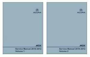2010 2011 2012 acura mdx shop service repair manual book engine rh ebay com acura mdx 2012 manual pdf 2012 acura mdx owners manual