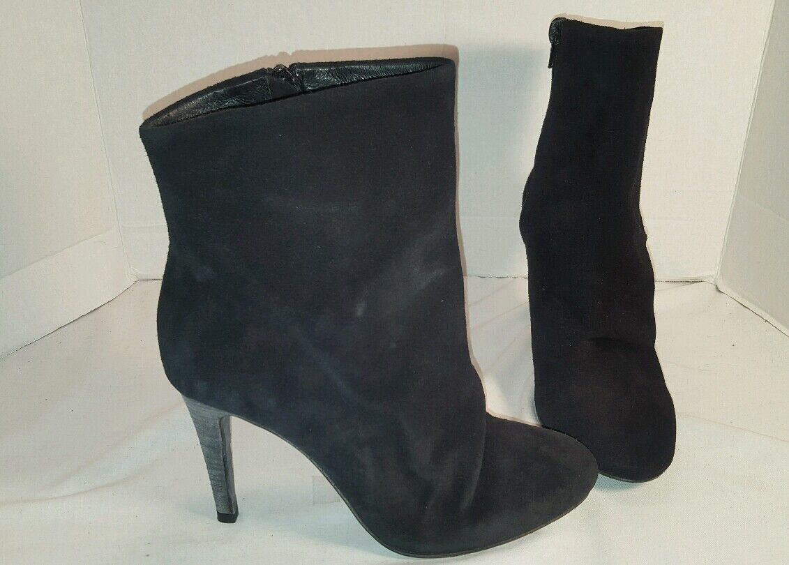 ANTHROPOLOGIE FREE PEOPLE BLACK SUEDE FAIRFAX HEELED BOOTIES BOOTS US 9