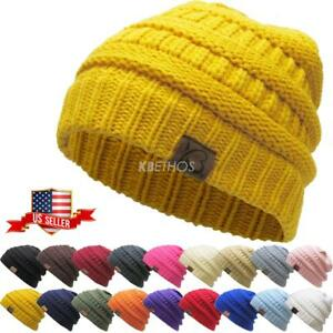 5d744b3233b Image is loading Clearance-Sale-New-Knit-Slouchy-Beanie-Oversize-Thick-