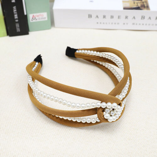 Hollow Women/'s Headband Hairband Knot Pearl Hair Bands Hair Hoop Accessories