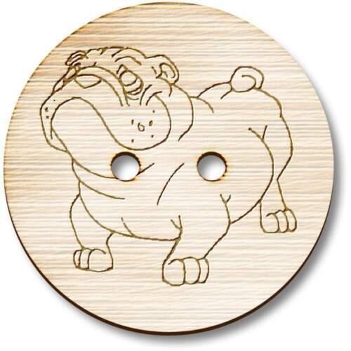 BT002657 /'Bulldog/' Wooden Buttons