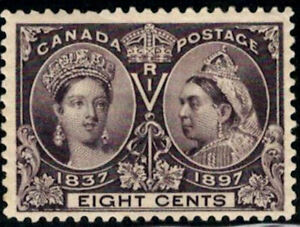 Canada-Stamp-56-Queen-Victoria-Jubilee-1897-8-MH