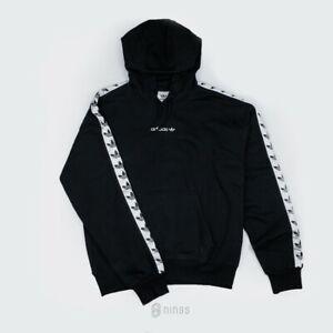 2018 shoes top fashion catch Details about Adidas Originals Trefoil Logo Adicolor TNT Tapped Hoodie  Black DX1301