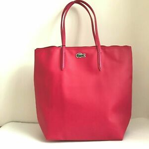 Lacoste Women S Concept Vertical Tote Bag 25cm Drop In Virtual Pink Nf0647po
