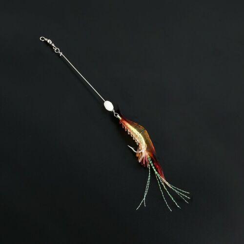 Luminous Shrimp Fishing Simulation Soft Prawn Lure Hook Tackle Bait Silicone