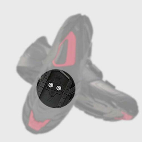 Black Pedal Cleat Set for MTB Mountain Bike Bicycle Cycling Shoes Accessories QK