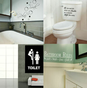 BATH-WALL-QUOTES-Large-Toilet-amp-Bath-Wall-Sticker-Decal-Art-Transfer-Graphic