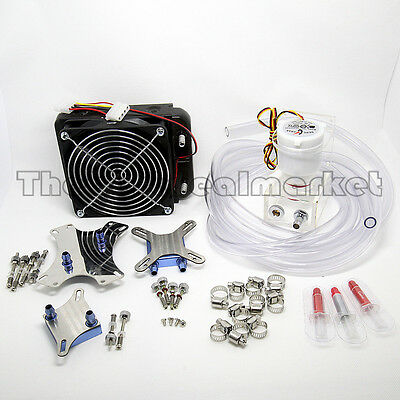 Water Cooling Kit 120 Radiator CPU NB GPU Block Pump Reservoir Tubing Best Value