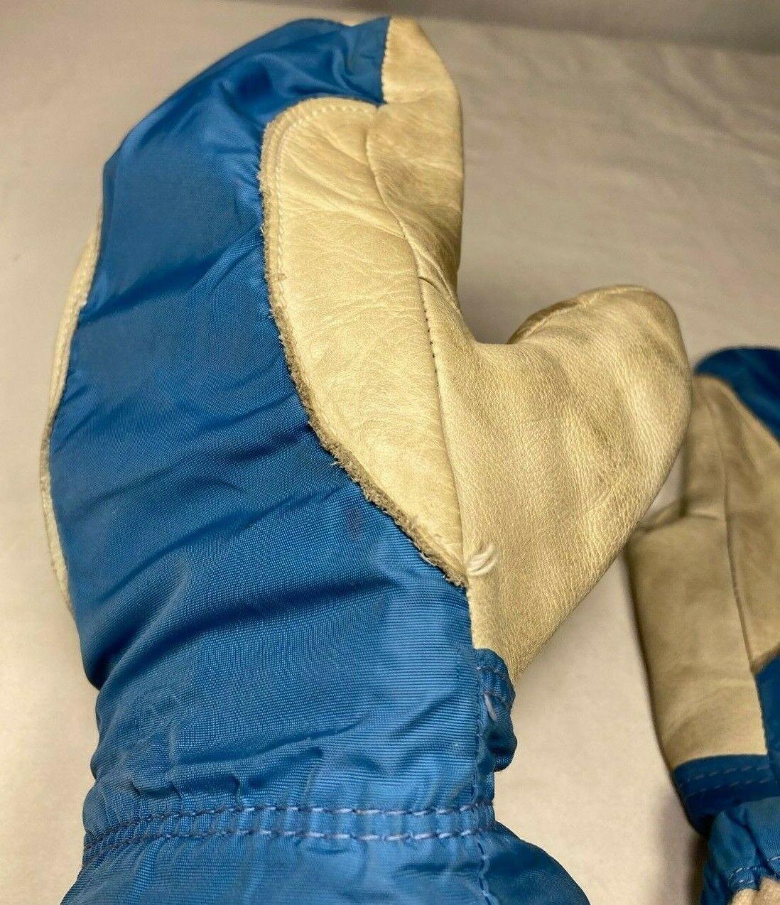 Columbia Vintage Gauntlet Leather Snowmobile Mitt… - image 12