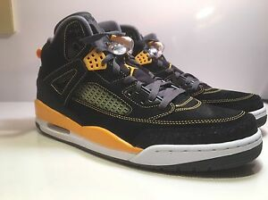 NIKE AIR JORDAN SPIZIKE BLACK UNIVERSITY GOLD 315371-030  New in Box CHOOSE SIZE