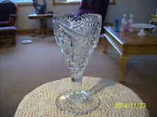 "Cambridge ""Sawtooth"" Vintage Glass Footed Celery Dish Or Floral Vase Hobstar"